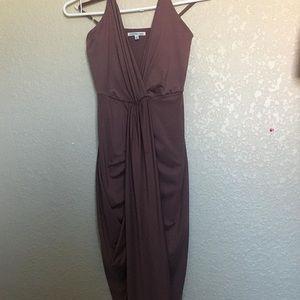 Mauve Spaghetti Strap Dress
